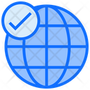 Verified Internet Verified Connection Verified Global Connecton Icon