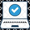 Verified Laptop Screen Icon