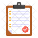 Checked List Bulleted List Document Icon