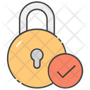 Verified Lock Secure Protection Padlock Icon