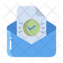 Artboard Verified Mail Verifeid Open Message Icon