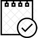 Paper Piece Tick Verified Notes Verified Papper Icon