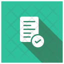 Verified Page Text File Icon