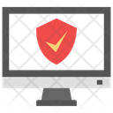 Laptop Protection Verified Security Online Security Icon