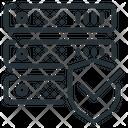 Server Rack Hosting Protection Icon