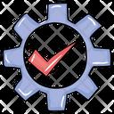 Verified Setting Authentic Settings Cogwheel Icon
