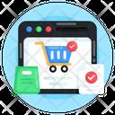 Order Check Verified Shopping Shopping Website Icon