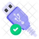 Approved Usb Verified Usb Universal Serial Bus Icon