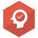 Tick Mind Head Icon