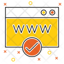 Verified Webpage Page Icon