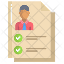 Artboard Verify Candidate Candidate Form Icon