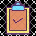 Clipboard Verify File Verify Document Icon