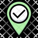 Verify Location Appoved Location Right Location Icon