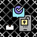 Unlock Card Verify Message Icon