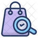Verifying Shopping Bag Bag Search Bag Analysis Icon