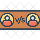 Versus Against Opposed To Icon