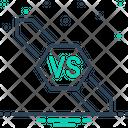 Versus Confrontation Competition Icon