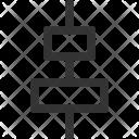 Vertical Center Interface Icon