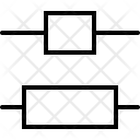 Vertical Distribute Center Icon