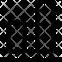 Vertical Align Bottom Design Icon