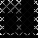 Design Solid Vertical Align Bottom Icon