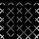 Vertical Align Top Design Icon
