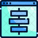 Vertical Alignment Graphic Tool Interface Icon