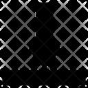 Vertical Alignment Align Bottom Icon