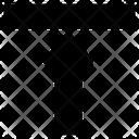 Vertical Alignment Top Arrow Icon