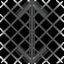 Expand Arrows Expand Vertically Vaertical Arrow Icon