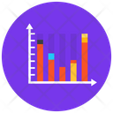 Vertical Chart Statistics Infographic Icon