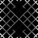 Arrow Direction Vertical Icon