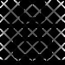 Vertical Distribute Bottom Design Icon