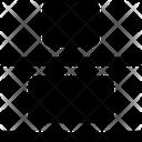 Design Solid Vertical Distribute Bottom Icon