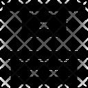 Vertical distribute top Icon