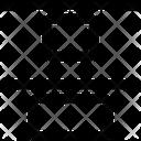 Vertical Distribute Top Design Icon