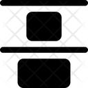 Design Solid Vertical Distribute Top Icon