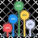 Vertical Timeline Vertical Graph Column Chart Icon