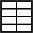 Vertical Grid Layout Icon