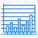 Vertical Line Graph Bar Chart Data Analytics Icon