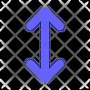 Vertical Resize Resize Arrows V Icon