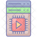 Vertical Scalability Data Storage Icon