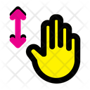 Vertical Scroll Finger Hand Icon
