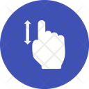 Vertical Scroll Touch Icon
