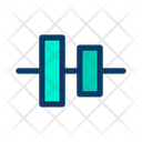 Verticle  Center Align Icon