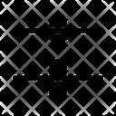 Verticle Distribute Center Align Icon