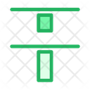 Verticle Distribute Top Align Icon