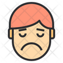 Very Sad Emotion Face Icon