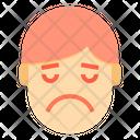 Very Sad Emotion Face Icon