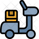 Vespa Delivery Courier Icon